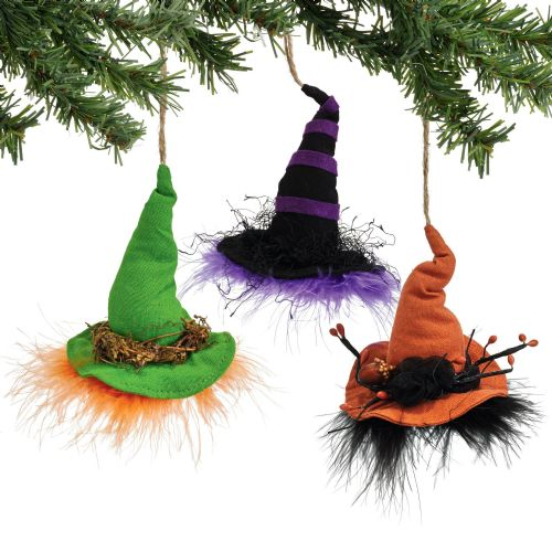 Department 56 Witch Hat Ornaments Set of 3